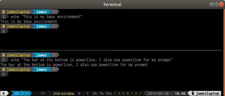 tmux with powerlne